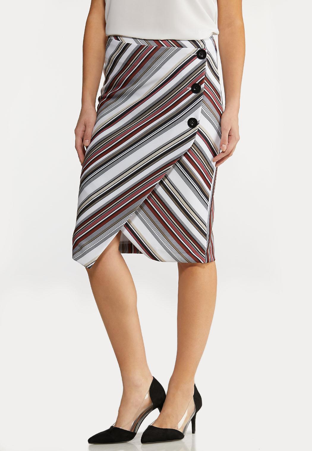 Plus Size Asymmetrical Wrap Skirt