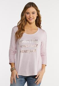 Plus Size Heart Full Mom Top