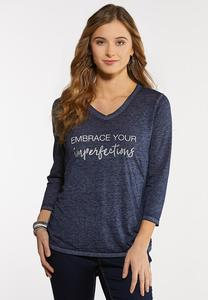 Plus Size Embrace Your Imperfections Tee