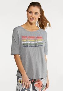 Plus Size Weekend Graphic Top