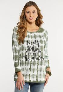 Plus Size Tie Dye Faith Top