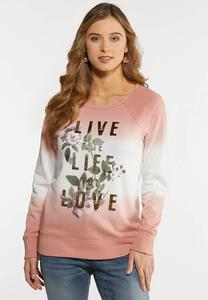 Plus Size Life You Love Graphic Top