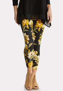 Sunflower Cropped Leggings