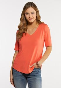 Plus Size Solid Knit Top