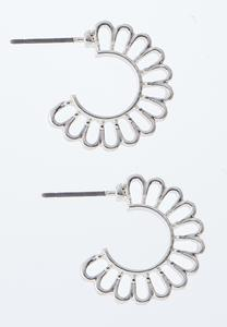 Cutout Half Moon Hoop Earrings