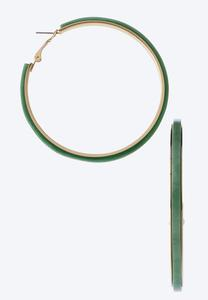 Colored Lucite Hoop Earrings