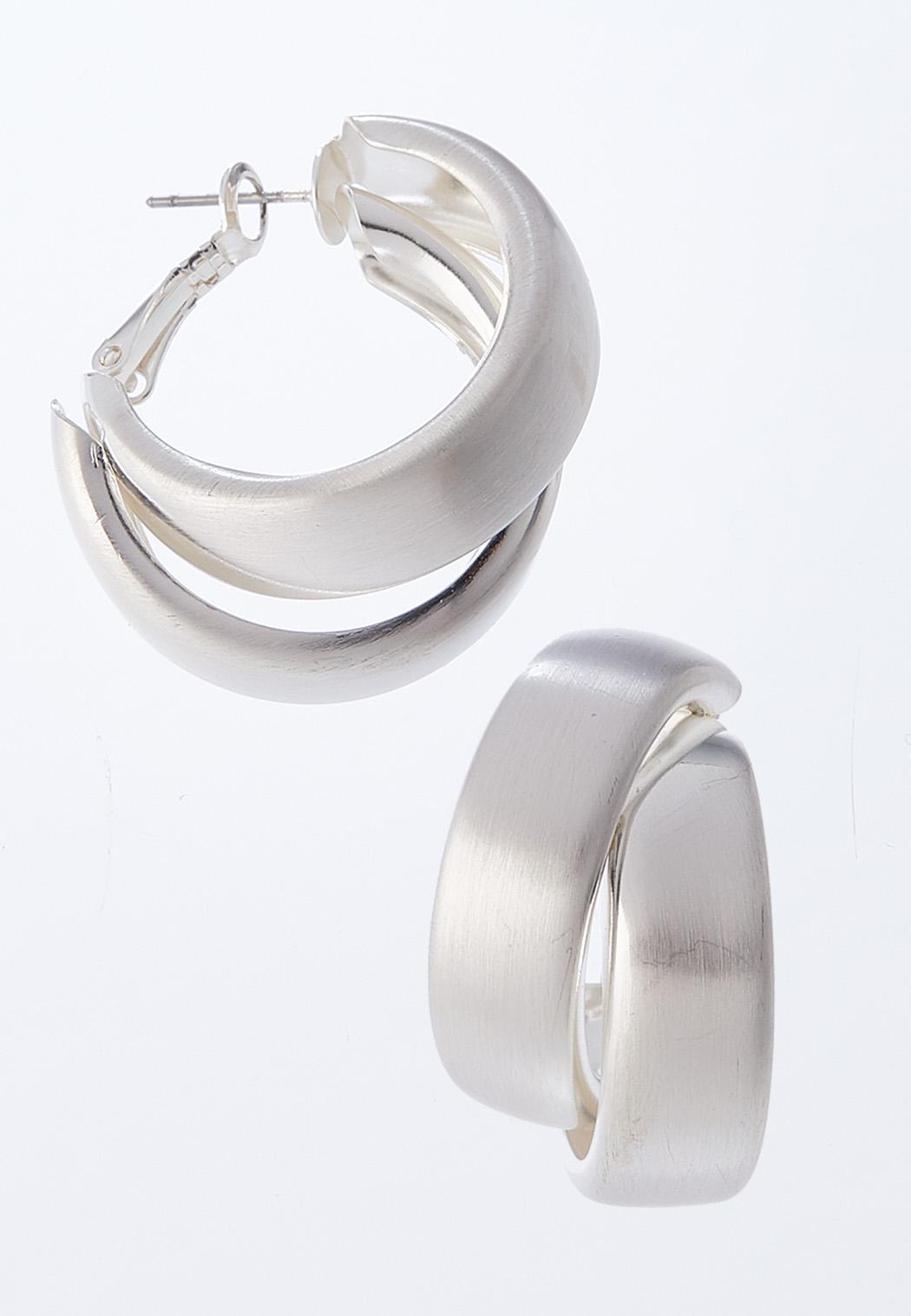Layered Medium Hoop Earrings