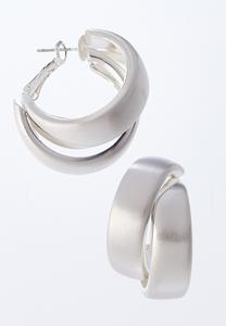 Layered Medium Hoop Earrings