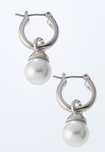 Hooped Pearl Earrings