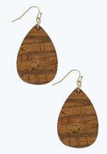 Cork Tear Dangle Earrings