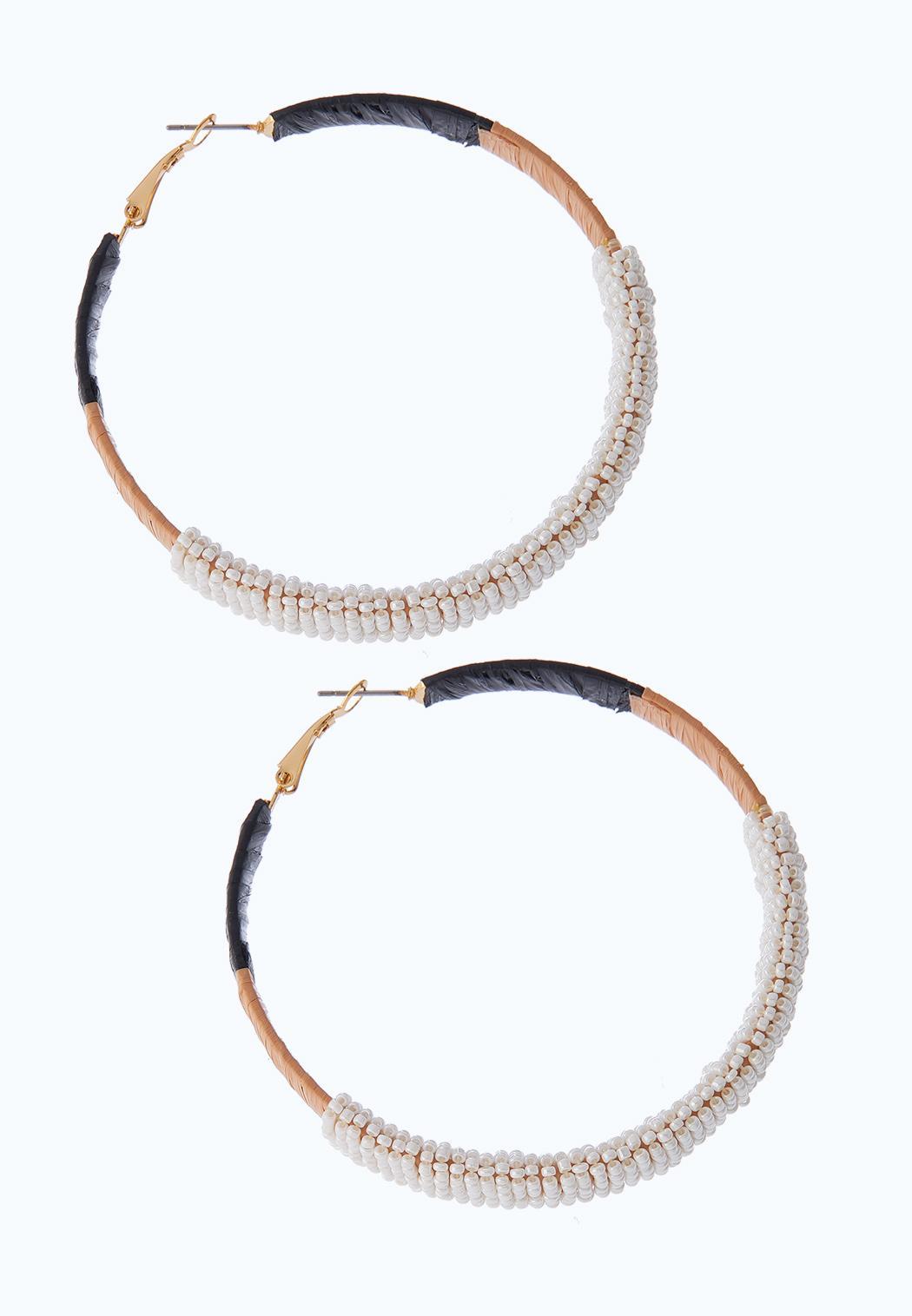 Seed Bead Wrap Hoop Earrings