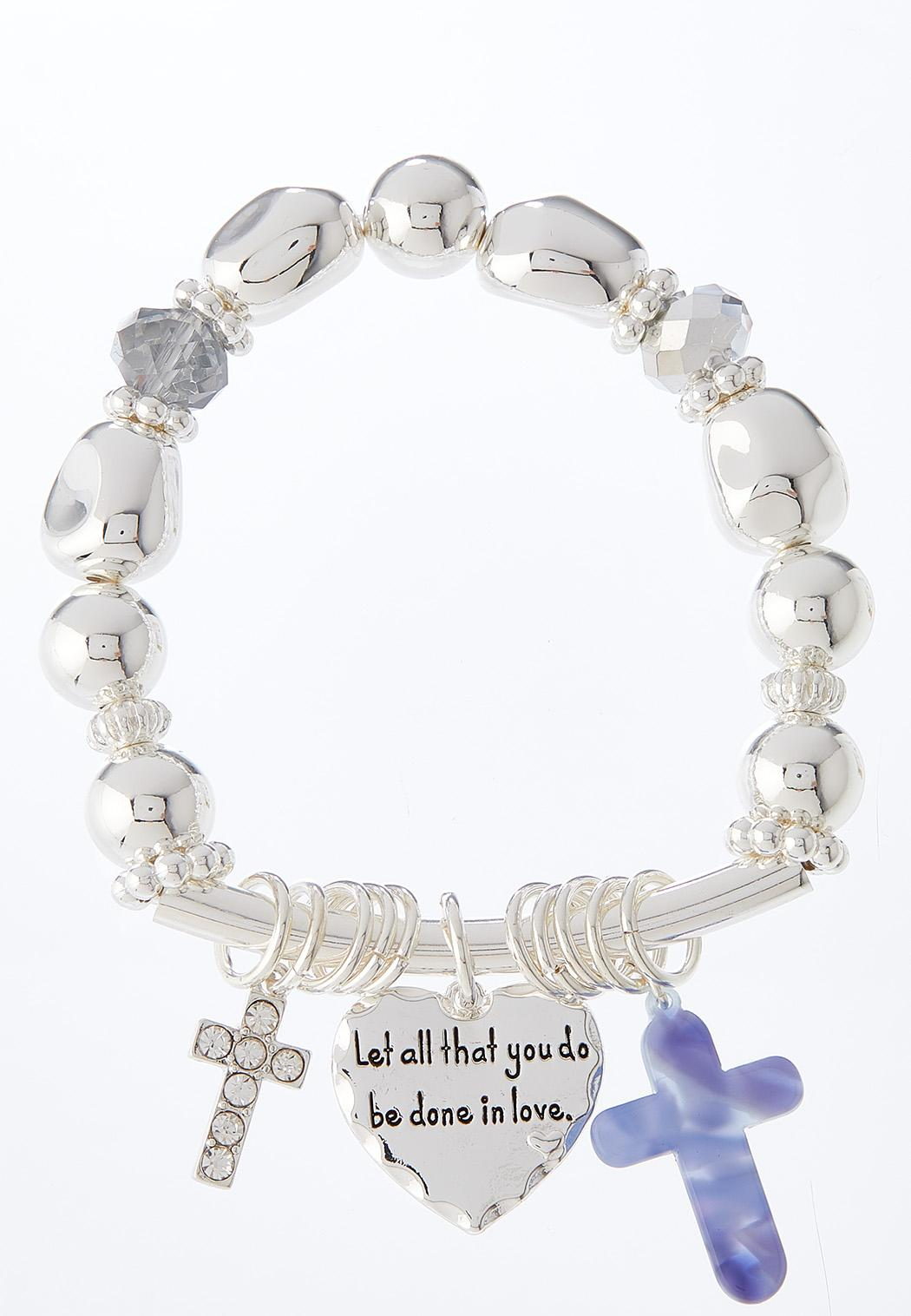 Inspirational Charm Stretch Bracelet