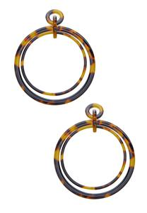 Tortoise Double Hoop Earrings