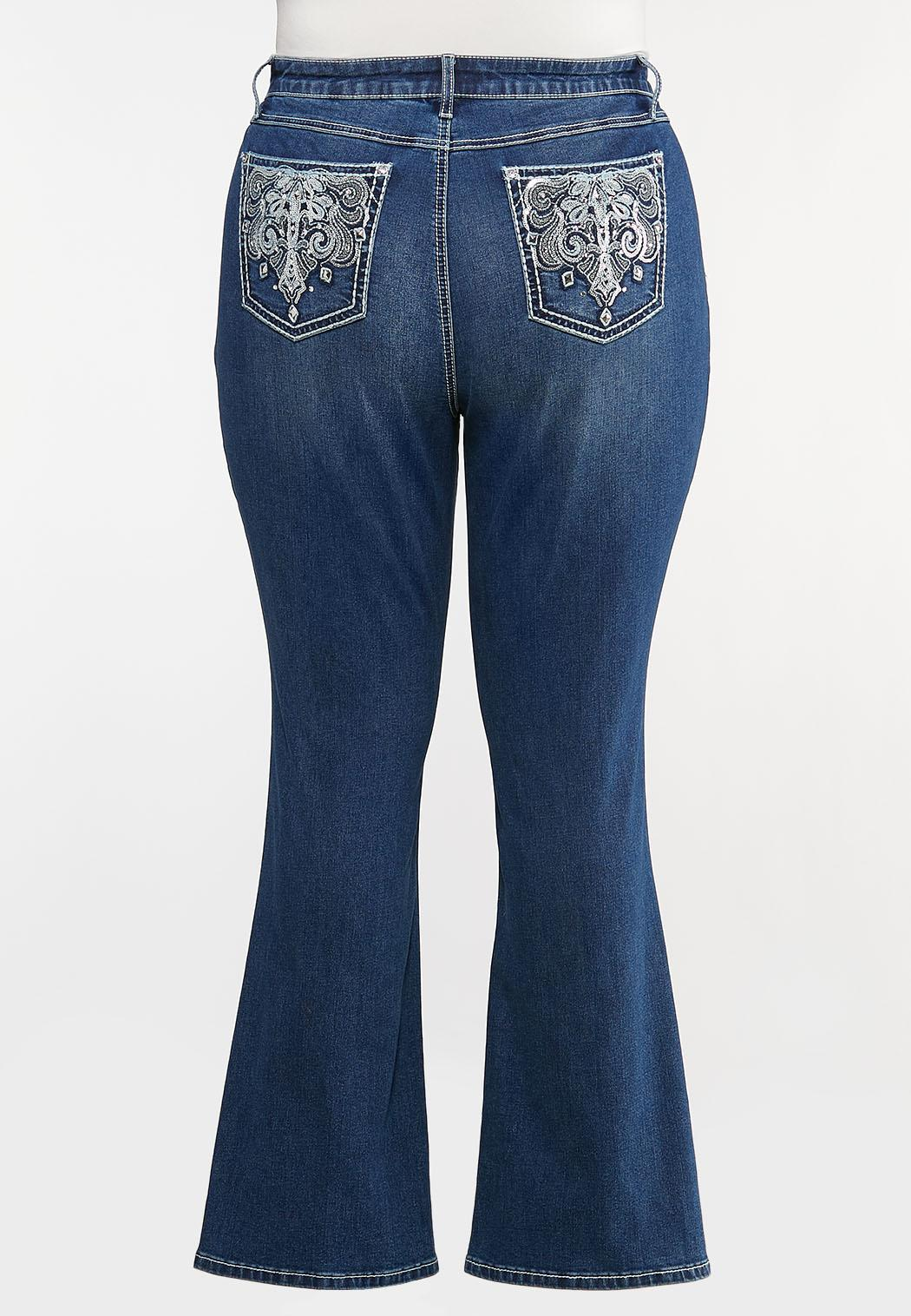 Plus Petite Sequin Embellished Pocket Jeans