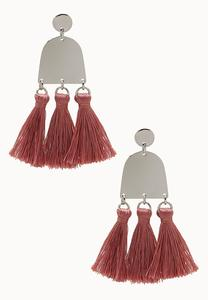 Gold Plate Tassel Earrings