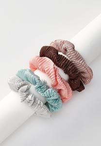 Pleated Scrunchie Set