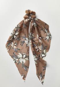 Floral Scarf Ponytail Holder