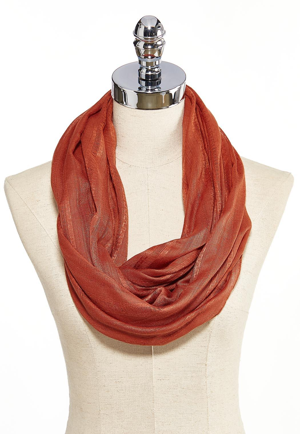 Picante Crochet Striped Infinity Scarf