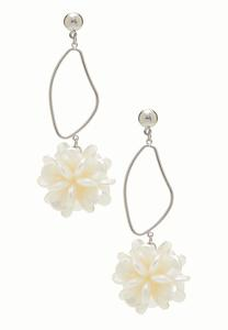 Flower Cluster Dangle Earrings