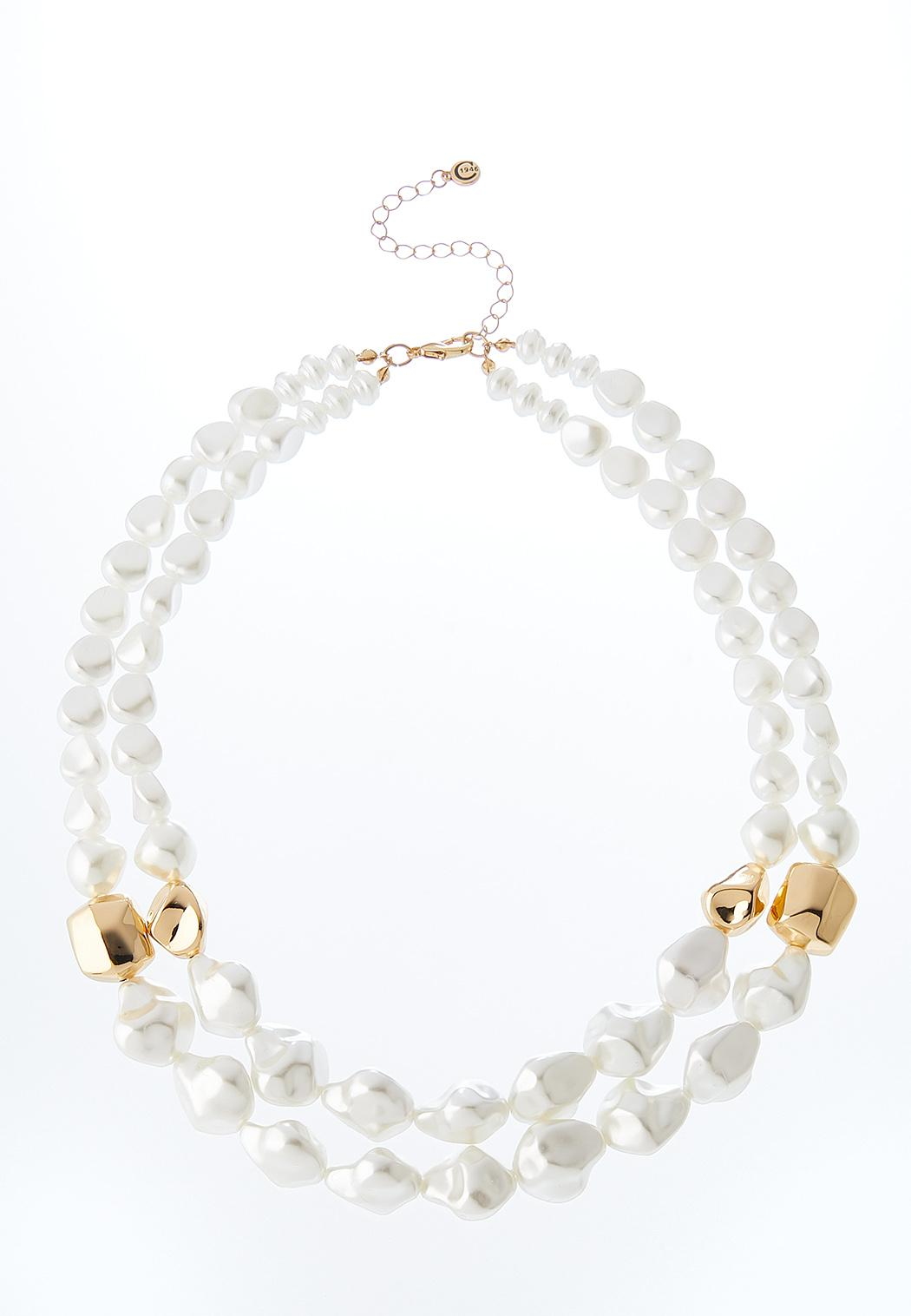 Pearl Gold Ball Necklace