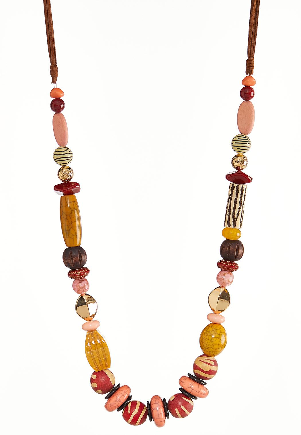 Long Chunky Bead Necklace