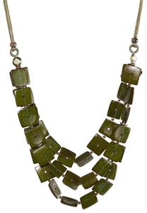 Square Disc Layered Necklace