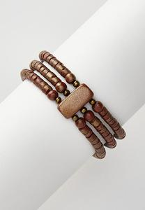 Wood Bead Stretch Bracelet