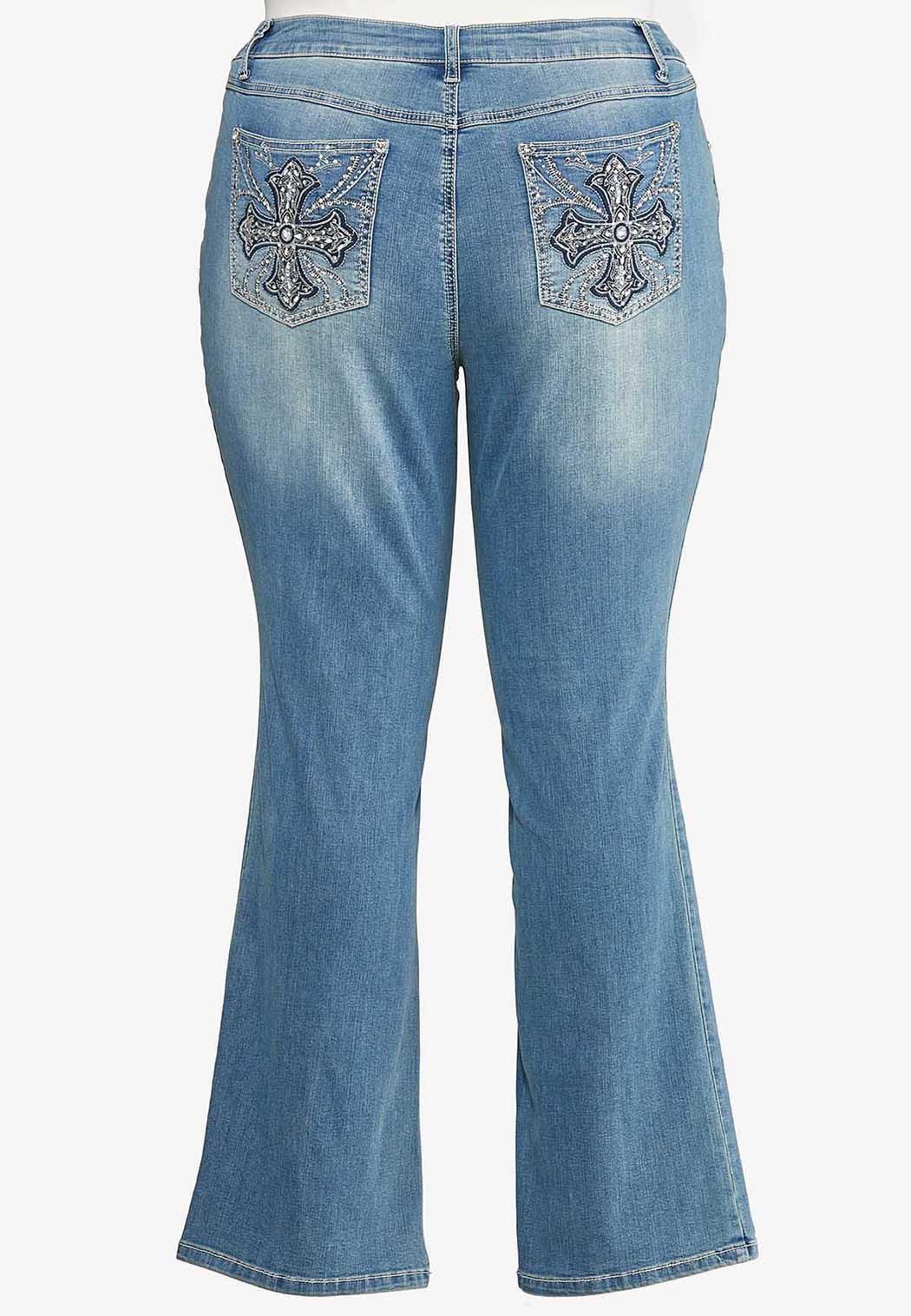 Plus Petite Cross Pocket Jeans