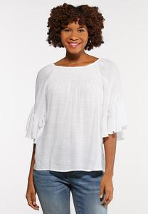 Plus Size Crepe Off The Shoulder Top