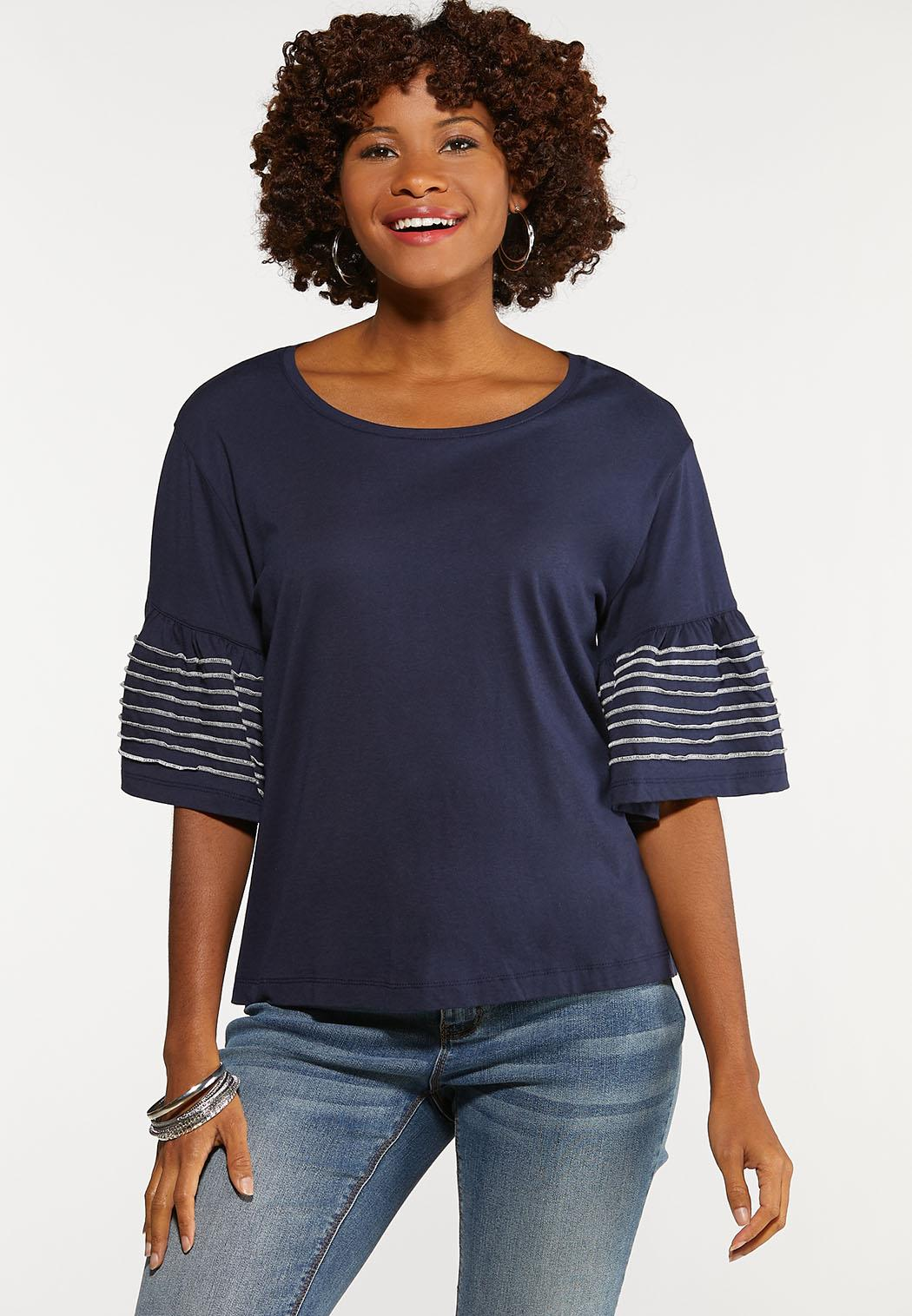 Stitch Bell Sleeve Top