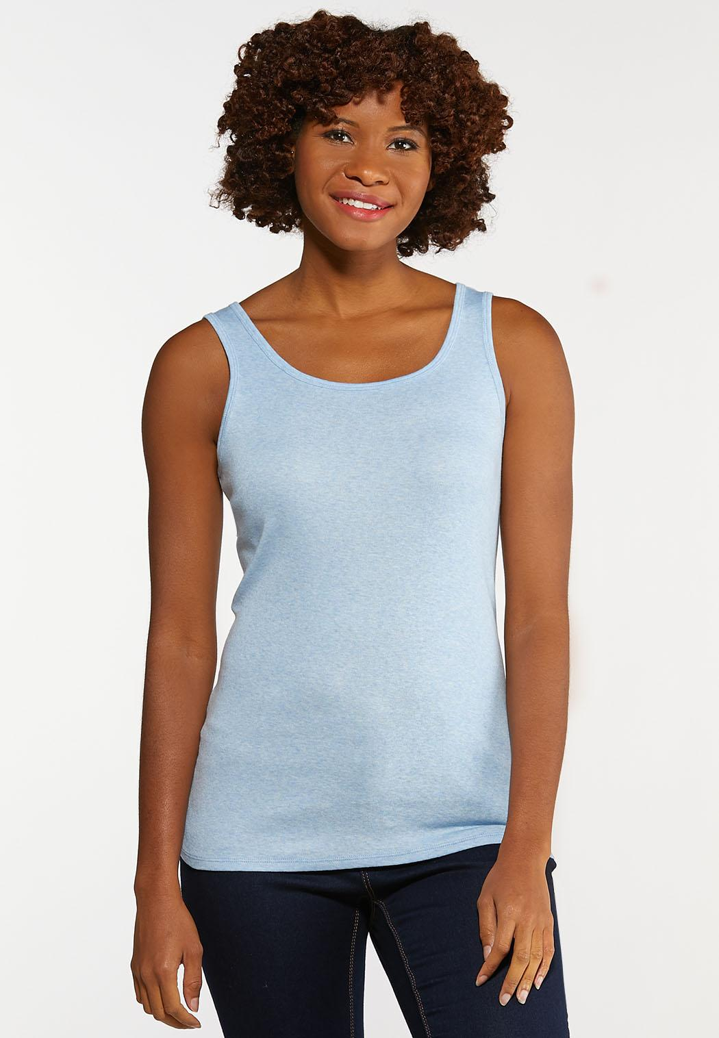 Heathered Solid Tank