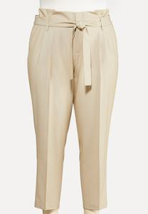 Plus Size Paperbag Trousers