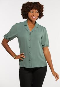 Plus Size Breezy Button Down Top