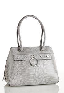 Croc Hardware Bowler Bag