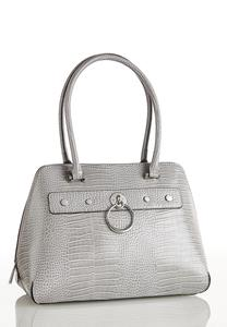 Croc Hardware Bowler Bag