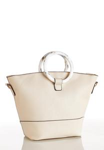 Marble Handle Bucket Handbag
