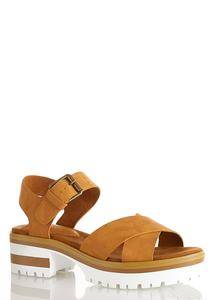 Crossband Lug Sandals