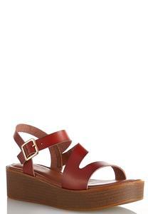 Asymmetric Platform Sandals