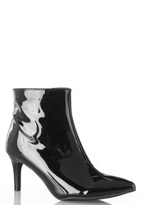 Patent Pointy Toe Booties