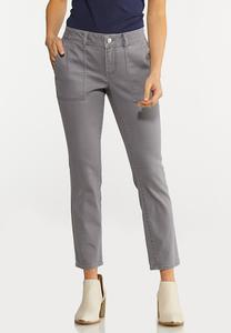 Gray Ankle Pants