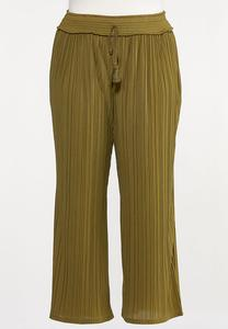 Plus Size Wide Leg Pleated Pants