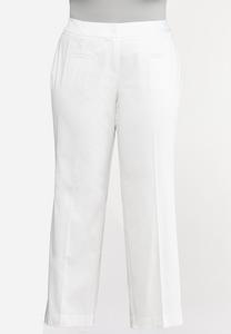 Plus Size Sateen Trouser Pants