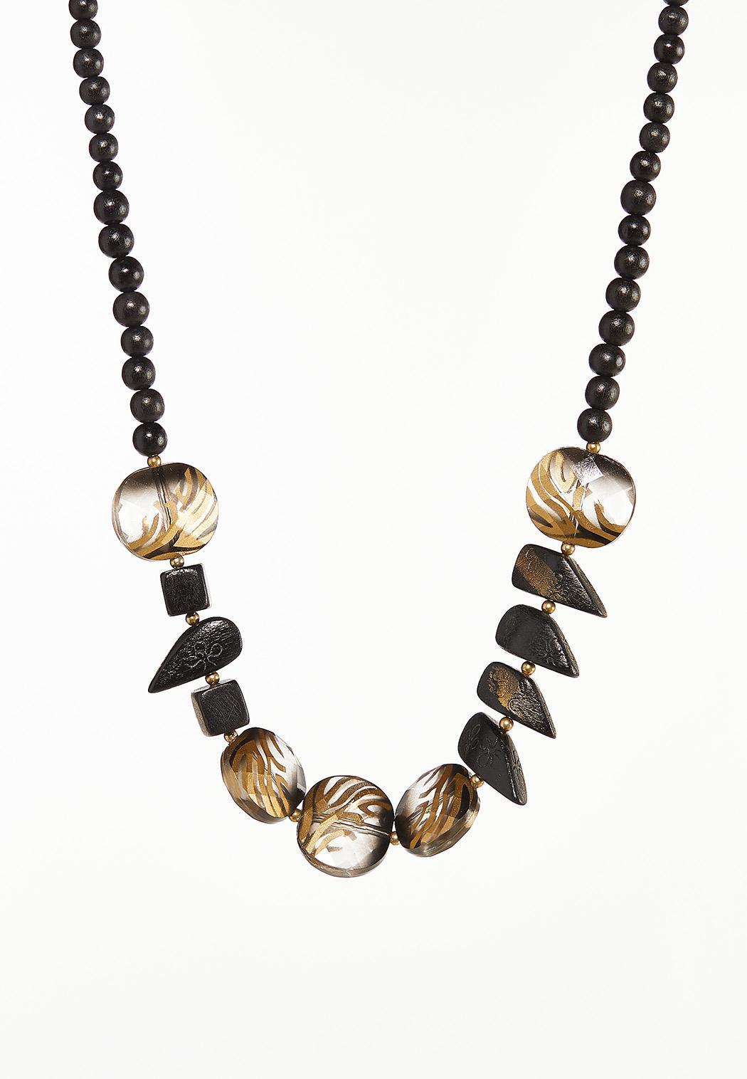 Animal Wood Bead Necklace