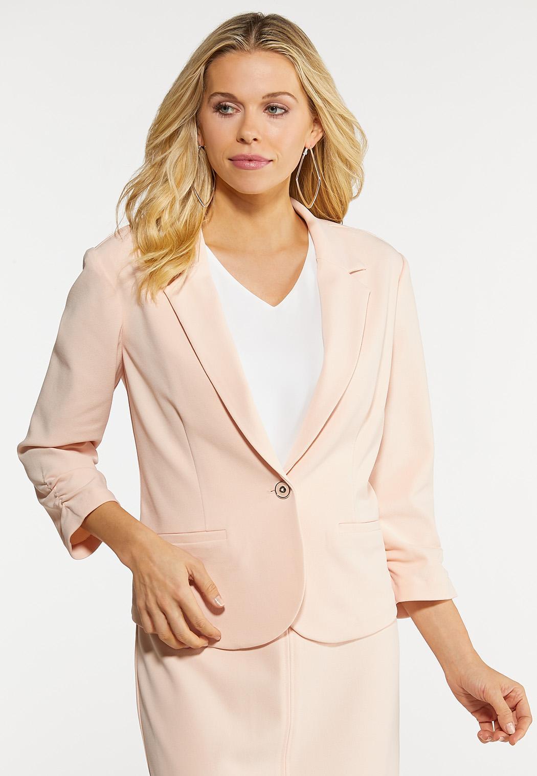 Plus Size Blush Blazer