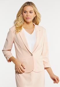 Plus Size Blush Blazer