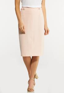 Plus Size Blush Pencil Skirt