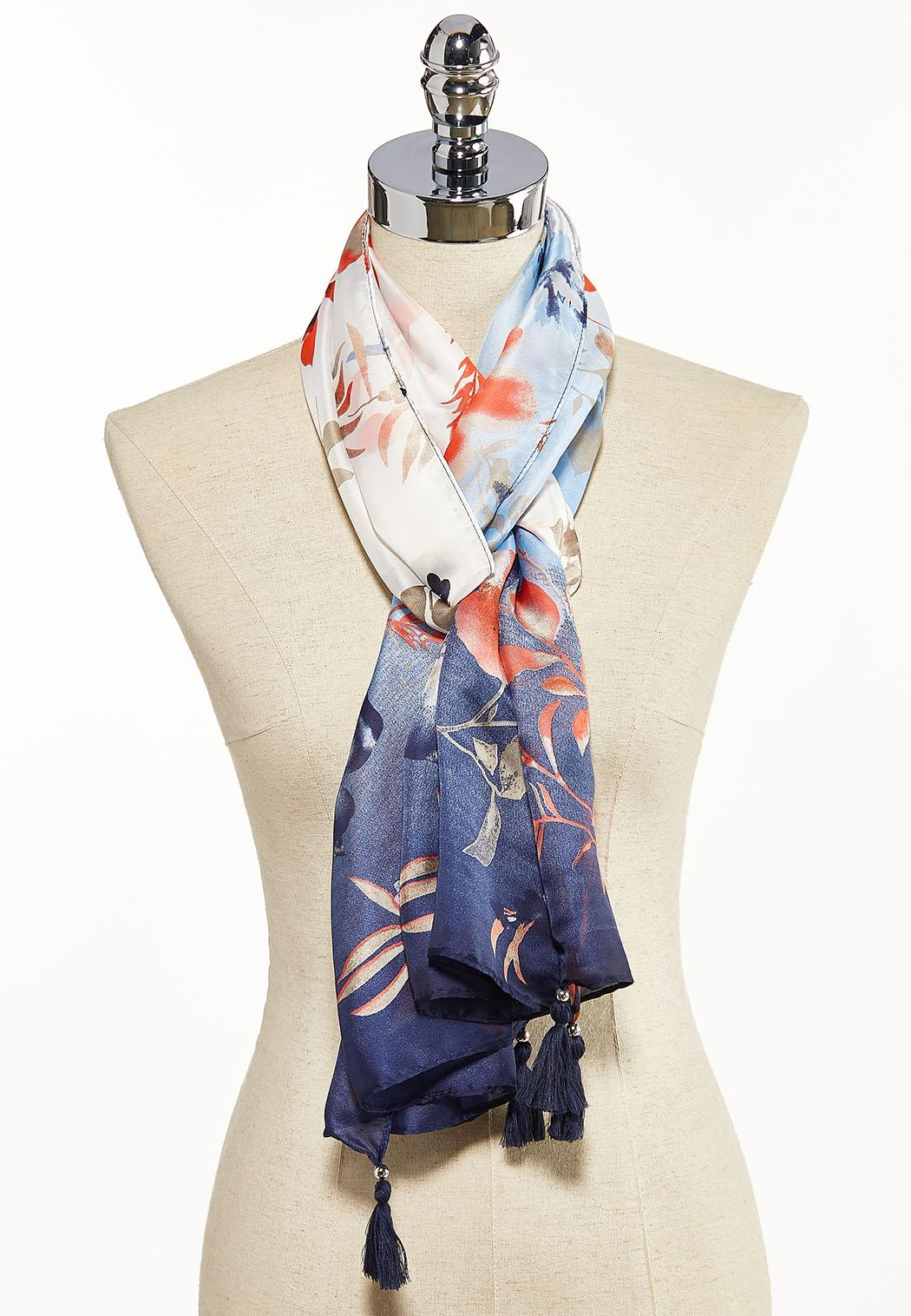 Watercolor Floral Oblong Scarf