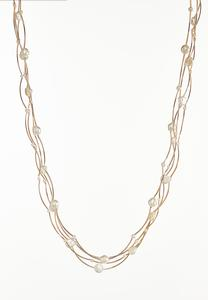 Floating Pearl Layered Necklace