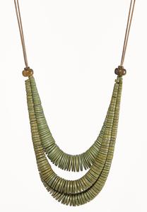 Olive Wooden Cord Necklace