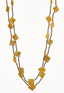 Layered Yellow Bead Necklace